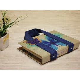 Hard cover Note book with special jeans hands